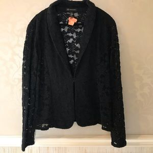 INC size xl black lace hook closure jacket